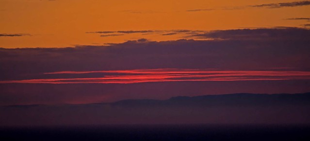 The sky broke like an egg into full sunset and the water caught fire. ~~ Pamela Hansford Johnson