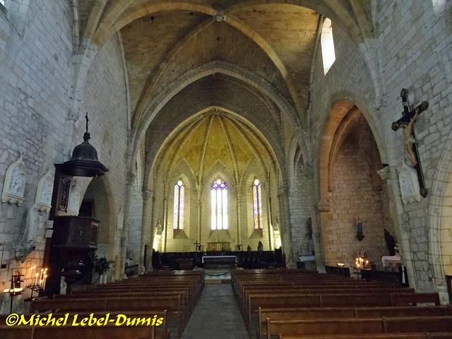 Église Saint Dominique de Monpanzier - La nef et le Chœur