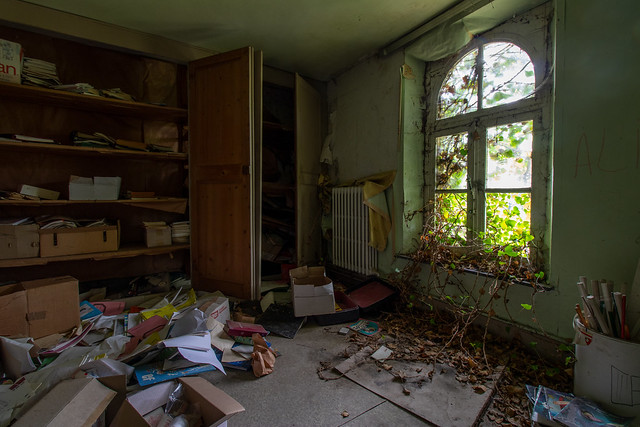 Books and window