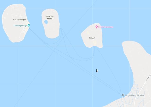 Isla Gili Air junto a las otras Gili