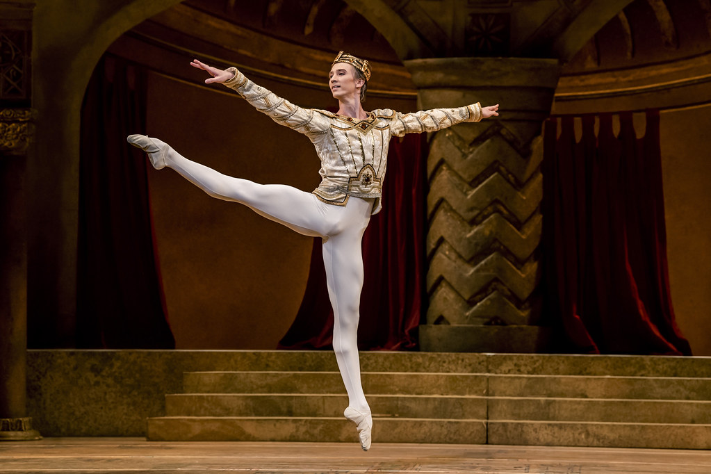 Vadim Muntagirov as Jean de Brienne in Raymonda Act III, The Royal Ballet © 2019 ROH. Photograph by Tristram Kenton