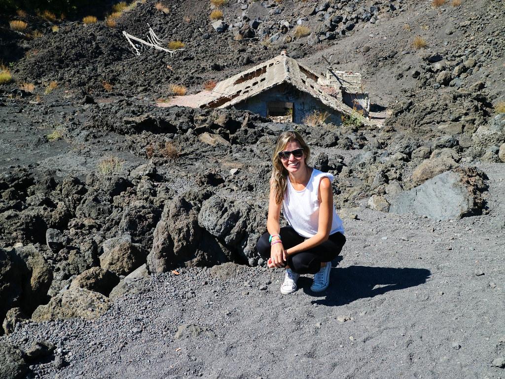 Viviendo bajo colada volcánica cerca del Etna