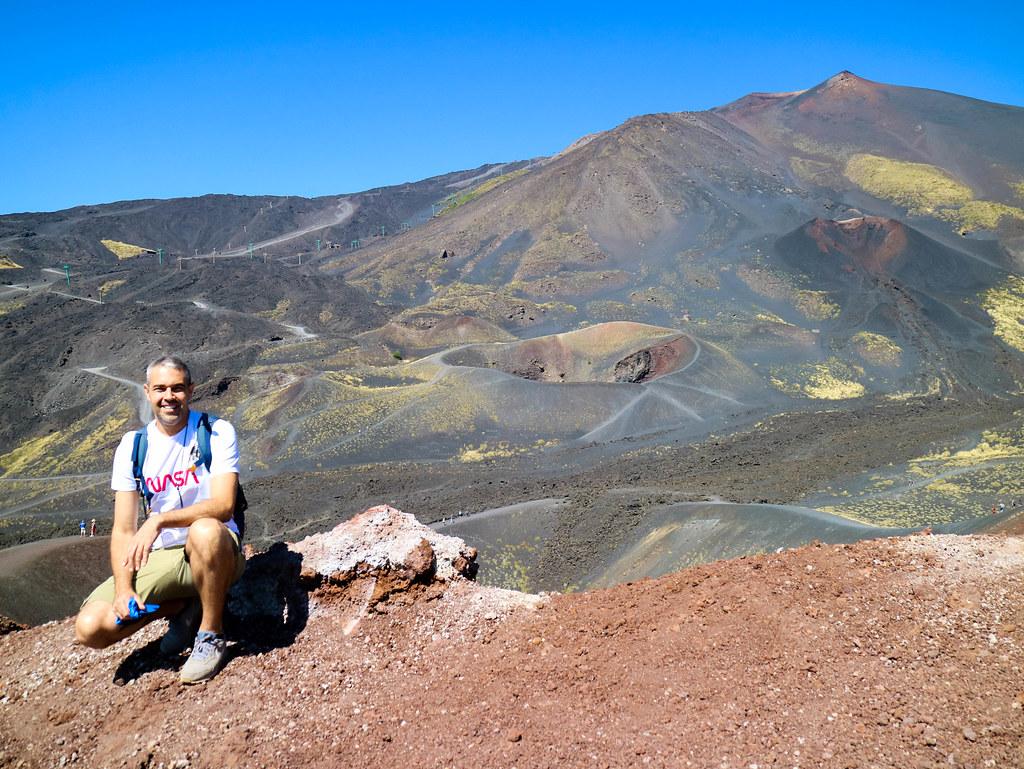 Crater Silvestri Superior en el Etna