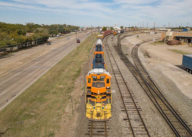 Dallas, Garland & Northeastern DGNO 3419 (SD40-2) Zacha Jct. Texas