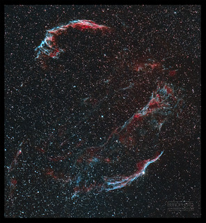 The Veil Nebula (HOO)