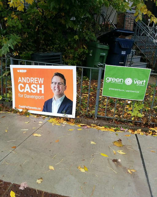 Not elected, not elected #toronto #dovercourtvillage #dupontstreet #davenport #canada #cdnpoli #elxn43 #ndp #andrewcash #greens #hannahconoverandrews