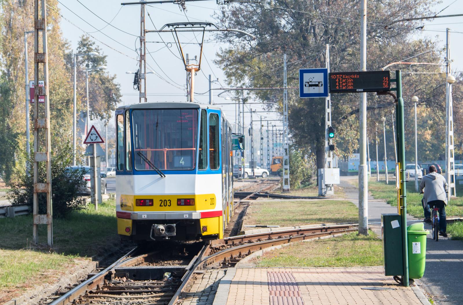 Szegedi villamossal tesztelik decemberben Hódmezővásárhelyi villamosvonalát
