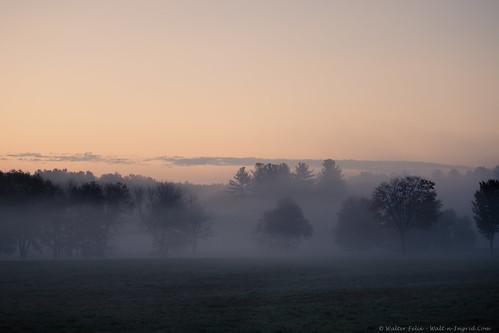 morning fog sunrise mass southwick massachusetts unitedstatesofamerica