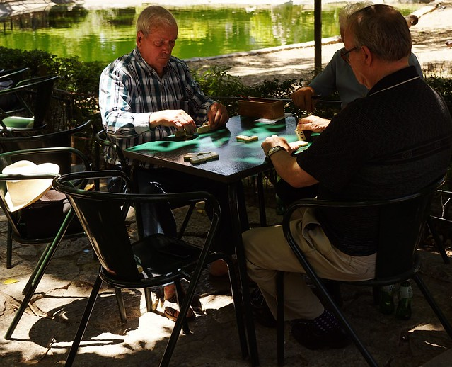 Jardim da Estrela - Os jogadores do dominó
