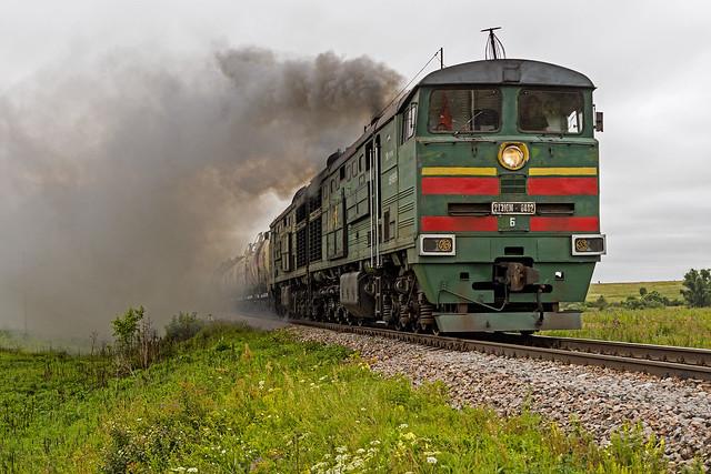 RZD freight train