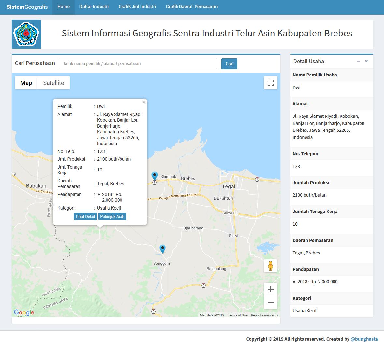 Sistem Informasi Geografis Sentra Industri Telur Asin Kabupaten Brebes