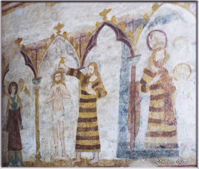 Fresques de l'église Saint-Hilaire - Asnières-sur-Vègre