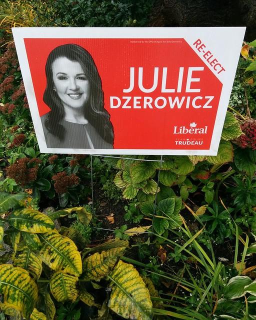 Re-elected #toronto #dovercourtvillage #dupontstreet #davenport #canada #cdnpoli #elxn43 #liberals #juliedzerowicz