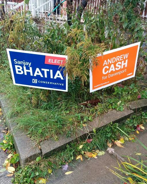 Not elected, not elected #toronto #dovercourtvillage #dupontstreet #davenport #canada #cdnpoli #elxn43 #conservatives #sanjaybhatia #ndp #andrewcash