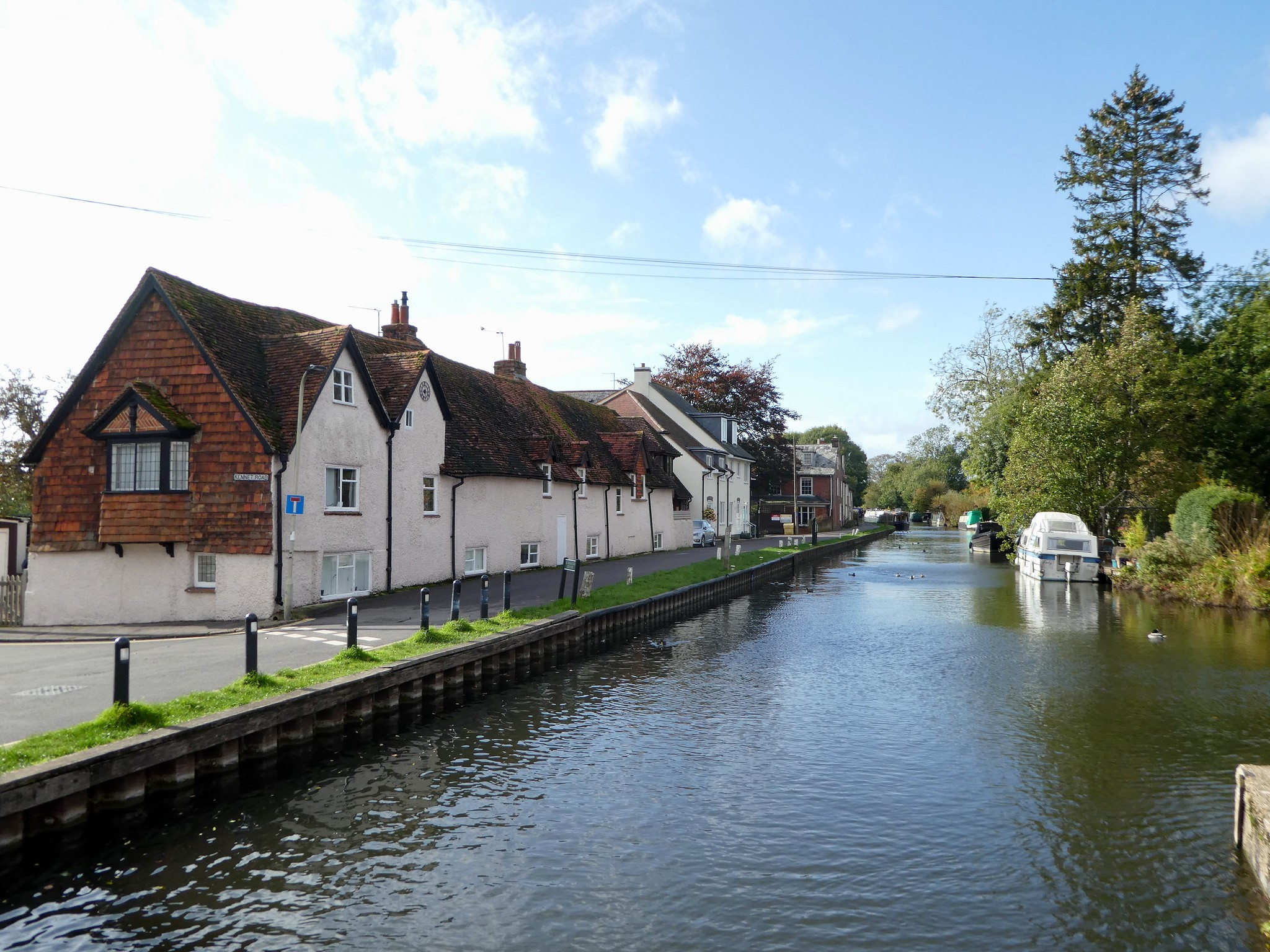 The Kennet and Avon Canal in Newbury, Berkshire