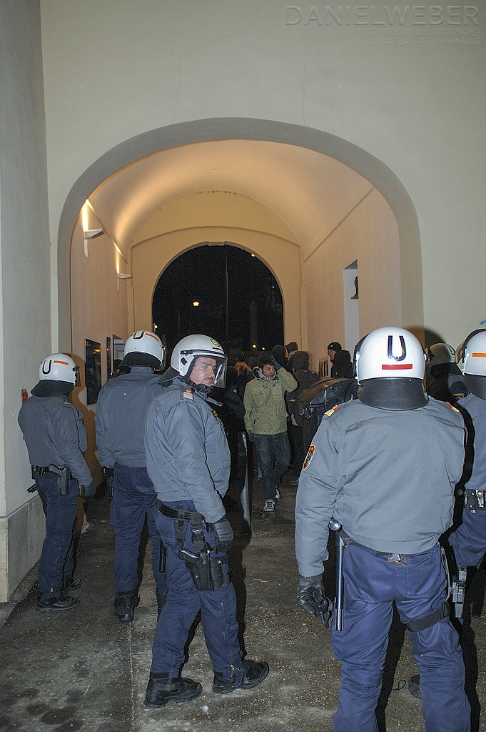 Spontandemo gegen Polizeigewalt am 12.3.2010 2