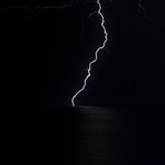15. Oktoober 2019 - 19:08 - My first attempt at capturing lightning, whilst on holiday in Rhodes, Greece.