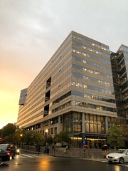 IMF HQ2 at sunset, H and 19th streets NW, Washington, D.C.