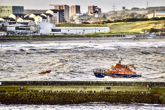 RNLI Bon Accord Aberdeen Lifeboat - Aberdeen Harbour Scotland - 19/10/2019