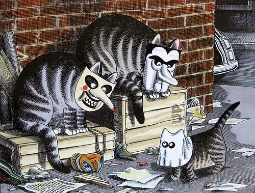Halloween Alley Cats