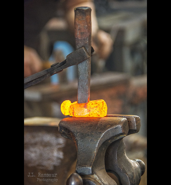 Blacksmith Demonstration - Wilson County Fair - Lebanon, Tennessee