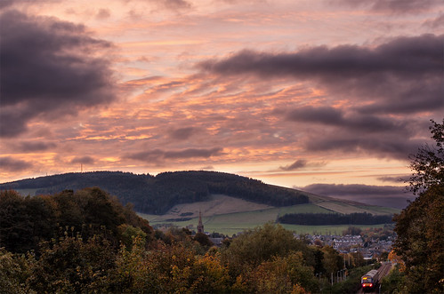 scotland unitedkingdom galashiels sunset scottishborders landscape