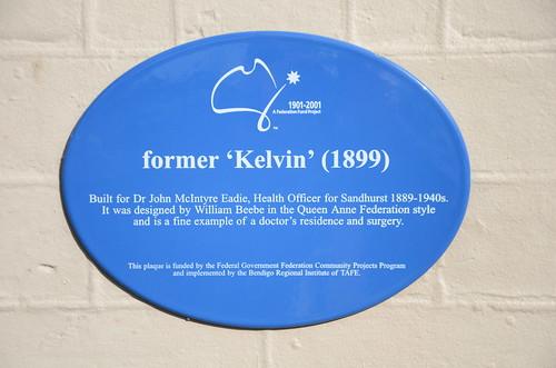 kelvin bendigo heritage historic australia blueplaque plaque