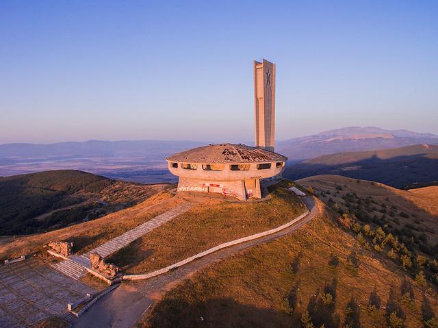 Buzludzha - UFO building in Bulgaria