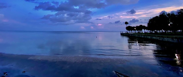 Cloudy Sunset over a Calm Tampa Bay