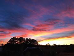 #sunset over Triple J Farm
