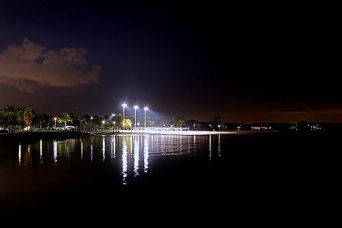 Nighttime Beach Volleyball on Tampa Bay