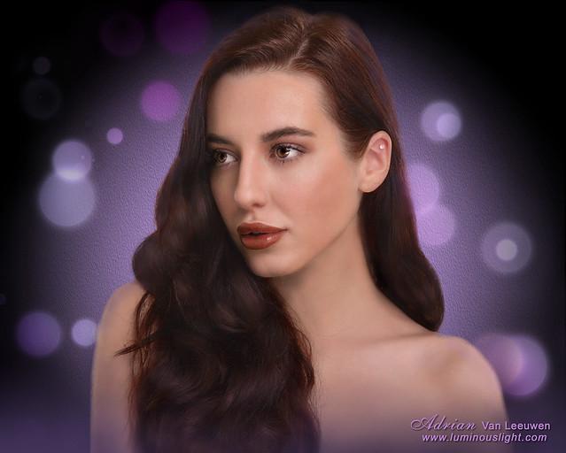Beauty Model with bokeh
