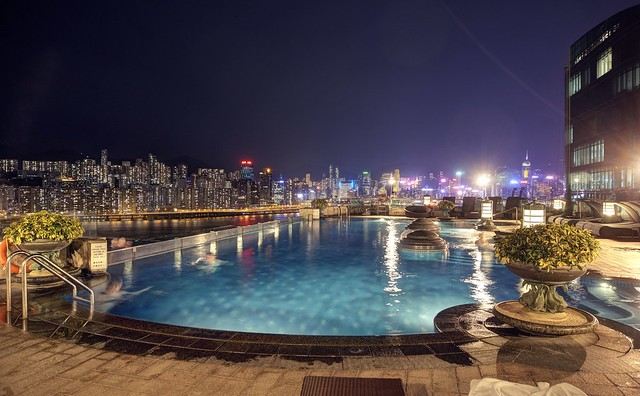 Let's go swim at the rooftop pool