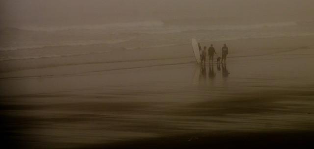 Surfer's in Fog...