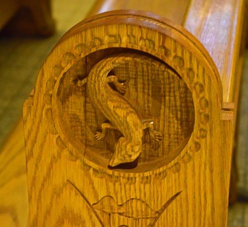 DSC_0670Pew Carving -Salamander