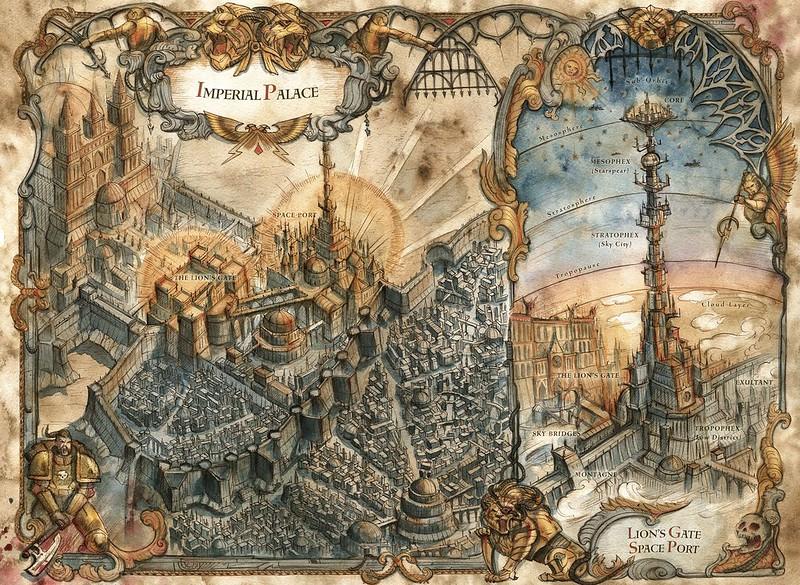 «Осада Терры: Первая стена», карта-иллюстрация   The Siege of Terra: The First Wall, map artwork
