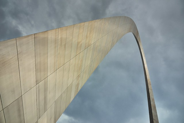 Patterns and Intricacies of Steel and Metal Along the Curve of an Arch (Gateway Arch National Park)