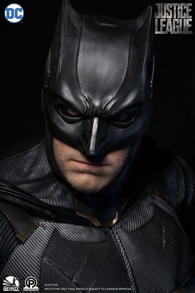 驚人製作水準再現帥氣的戰術蝙蝠裝! Infinity Studio - DC Series -《正義聯盟》蝙蝠俠 Batman 1:1 比例半身胸像