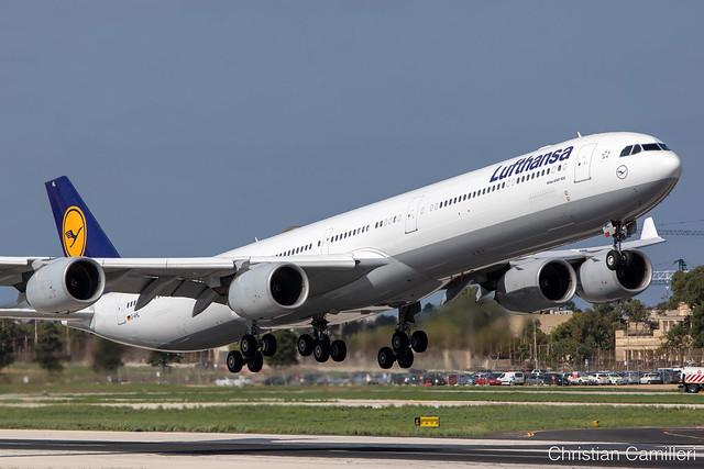 Lufthansa Airbus A340-642 'D-AIHL' LMML - 21.10.2019