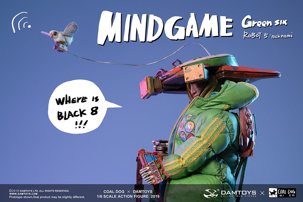 【DAMTOYS × Coal Dog】Mind Game 系列久違的第三彈新作,1/6 比例「Green Six」戴著巨大頭盔搶眼登場~