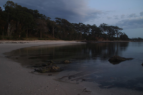 sunrise huskisson huskissonbeach jervisbay nsw australia clouds reflection beach sea bay
