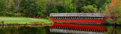 Jack-O-Lantern Covered Bridge Near Woodstock, New Hampshire