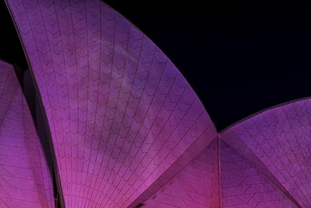 pink ribbon day (sydney opera house sails)