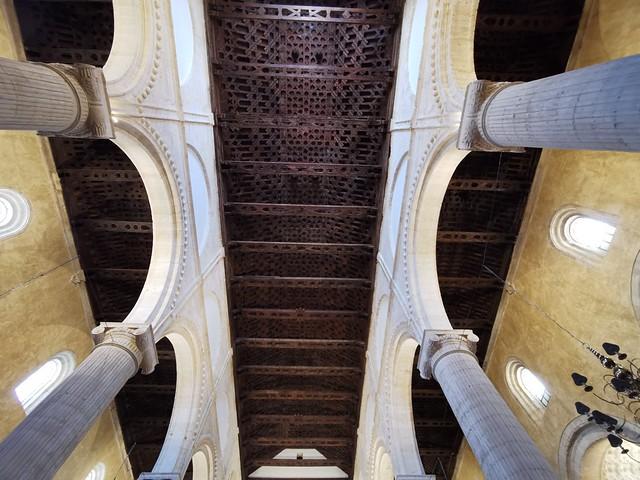 artesonado techo interior Real Colegiata de Santa Maria La Mayor Antequera Malaga