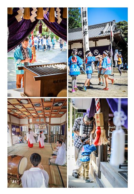 大目神社の祭典(愛知県瀬戸市) 巫女の舞