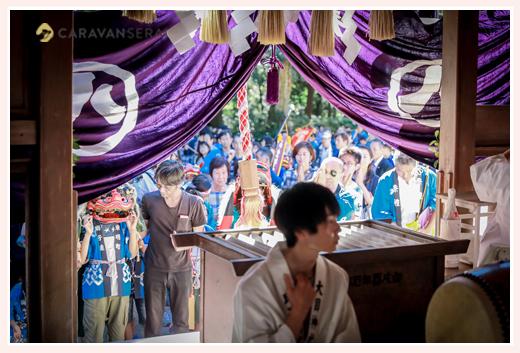 瀬戸市赤津地区のお祭り 獅子 法被