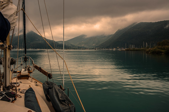 Lagoon anchorage....