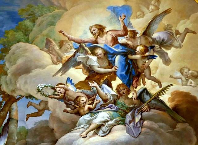 Toledo Cathedral - 160 - Cloister frescoes - Francisco BAYEU -1782 - The death of Santa Casilda - detail