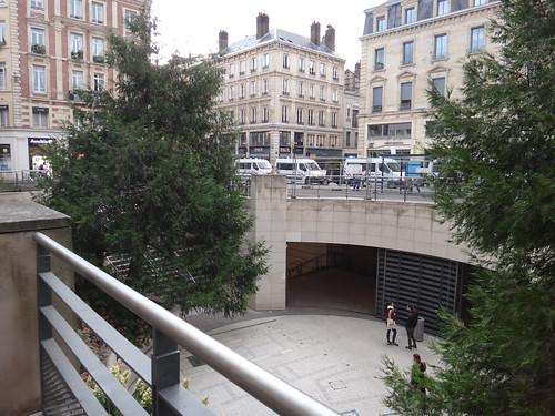 Half underground square of Tribunal de Grande Instance (Court) of Rouen