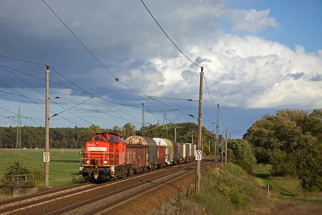 DB 298 326 + Güterzug/goederentrein/freight train  Großbeeren - Seddin  - Nudow